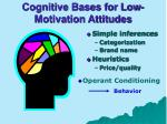cognitive bases for low motivation attitudes