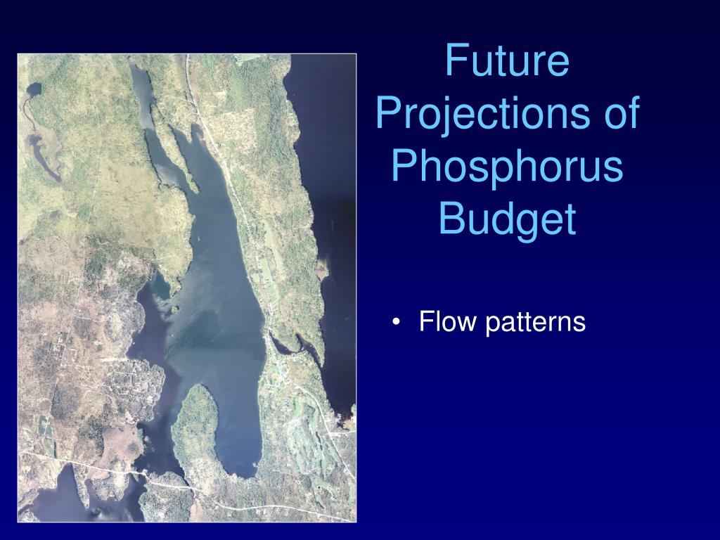 Future Projections of Phosphorus Budget