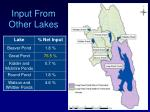 input from other lakes