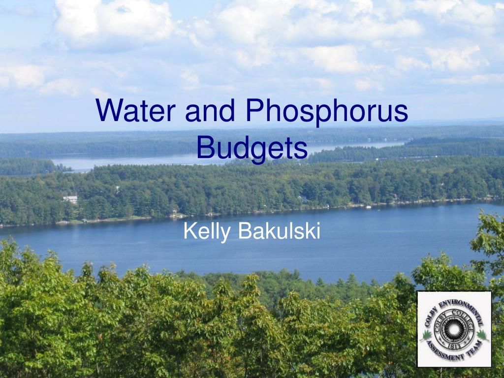 Water and Phosphorus Budgets