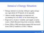 jamaica s energy situation