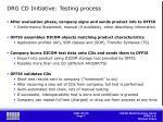 drg cd initiative testing process
