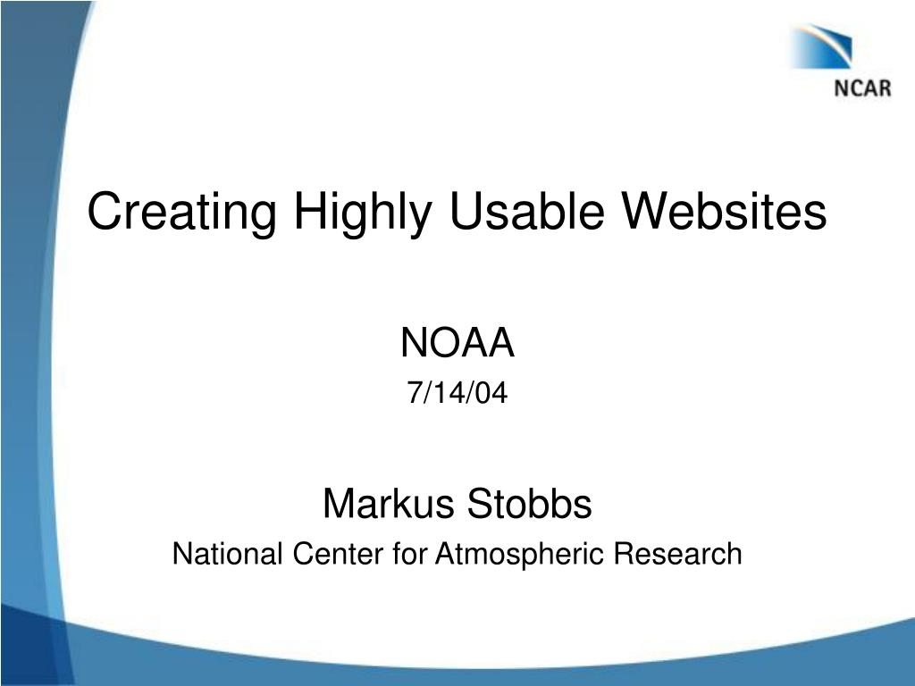 creating highly usable websites l.