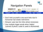 navigation panels