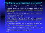 what online data recording is different