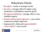 robustness checks