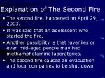 explanation of the second fire