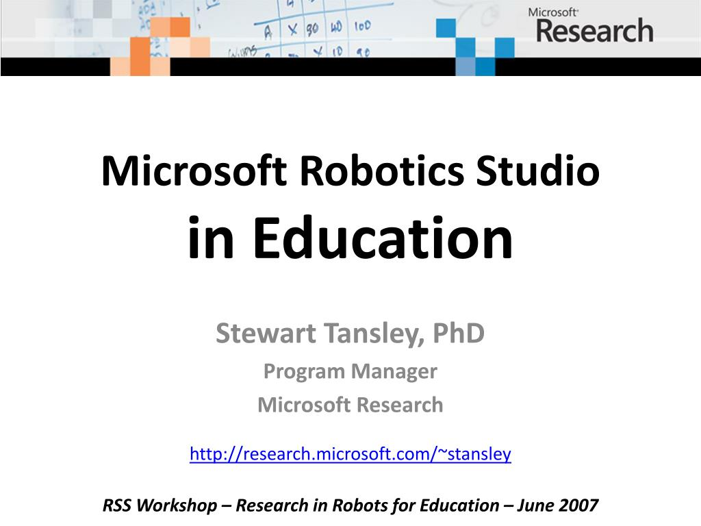 microsoft robotics studio in education l.