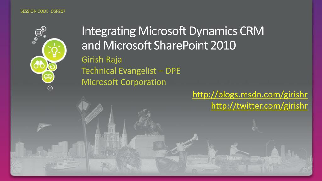 integrating microsoft dynamics crm and microsoft sharepoint 2010 l.