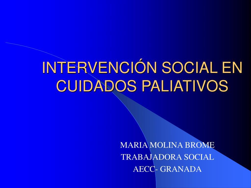 intervenci n social en cuidados paliativos l.