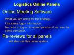 logistics online panels