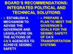 board s recommendations integrated political and technical solutions32