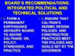 board s recommendations integrated political and technical solutions33