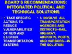 board s recommendations integrated political and technical solutions34