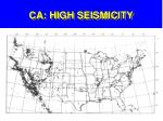 ca high seismicity