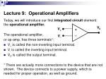 lecture 9 operational amplifiers
