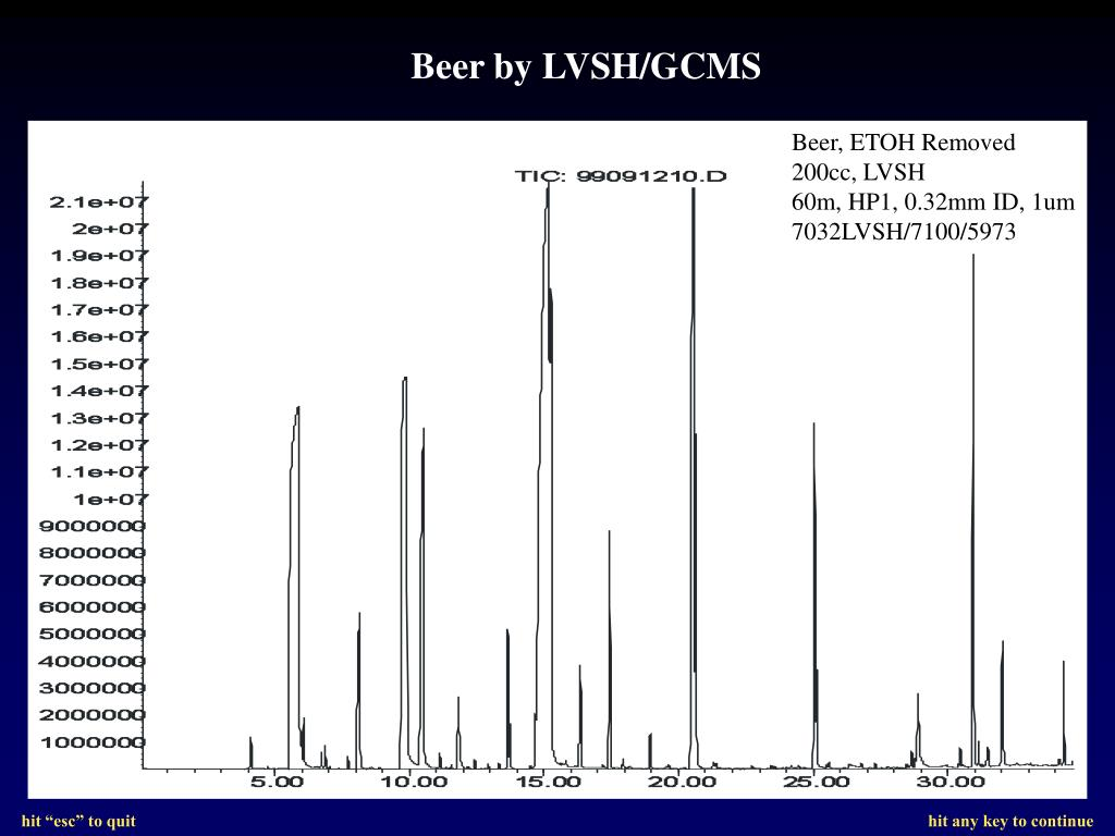 Beer by LVSH/GCMS