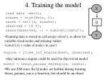4 training the model