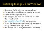 installing mongodb on windows