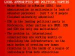 local authorities and political parties