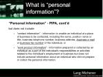 what is personal information16
