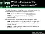 what is the role of the privacy commissioner