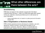 what other differences are there between the acts36