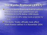 the kyoto protocol 1997
