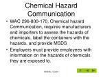chemical hazard communication