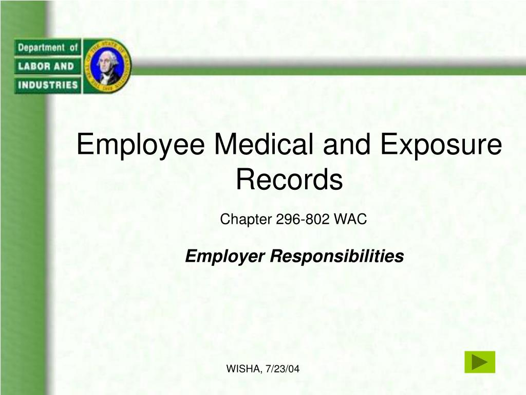 employee medical and exposure records l.