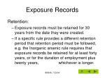 exposure records