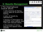 3 results management