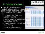 4 doping control