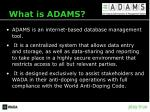 what is adams