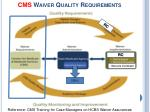 cms waiver quality requirements