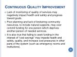 continuous quality improvement26