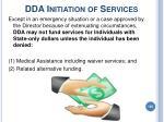 dda initiation of services105