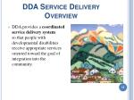 dda service delivery overview