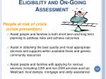 eligibility and on going assessment113