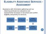 eligibility assistance services assessment88