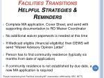 facilities transitions helpful strategies reminders174