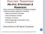 facilities transitions helpful strategies reminders175