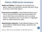 federal hcbs waiver assurances39