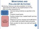monitoring and follow up activities95
