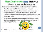 new directions helpful strategies reminders182