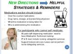 new directions helpful strategies reminders183