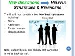 new directions helpful strategies reminders184
