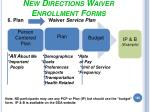 new directions waiver enrollment forms160