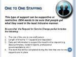 one to one staffing
