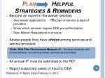 plan helpful strategies reminders